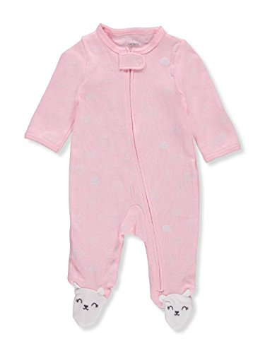Carters Newborn Bunny Girls (Carter's Baby Girls' Bunny Zip up Cotton Sleep & Play Newborn)