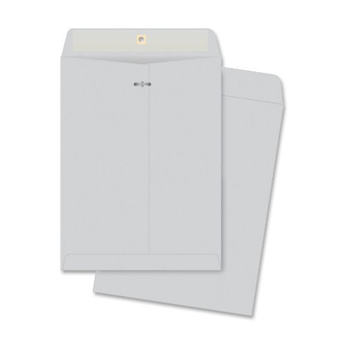Quality Park Clasp Envelopes, 10 x 13 inches, Executive Gray, Box of 100 (38597) by Quality Park