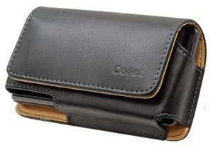 Bloutina Leather Case Pouch Removable 2 Clips Black For ZTE Adamant