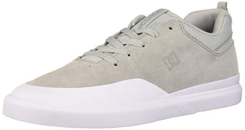 DC Men's Infinite Skate Shoe, Grey/White, 12.5 M US