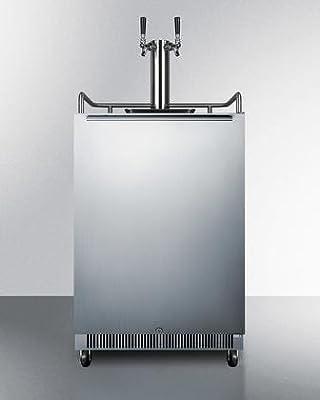Summit SBC678OSTWIN Wine Dispenser, Stainless-Steel