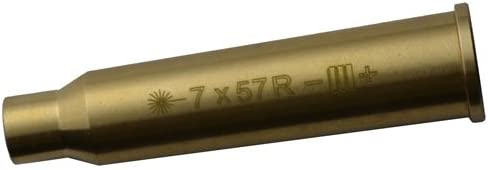 7x57R 7mm Brass Cartridge Laser Boresighter, Hunting Optics
