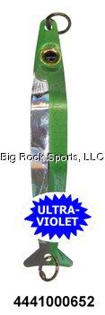 Haze Green - Silver Horde Coho Killer Fishing Spoon, UV Green Haze, 3