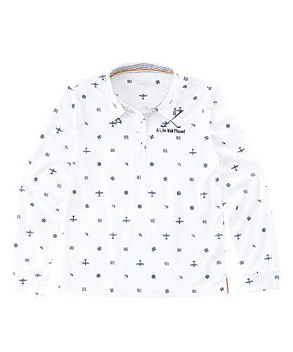 アーノルドパーマー ゴルフウェア 長袖シャツ レディース トビ柄長袖BDシャツ AP220402H04 WH M