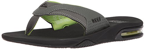 Reef Men's Fanning Sandal Black/Green 15 M US