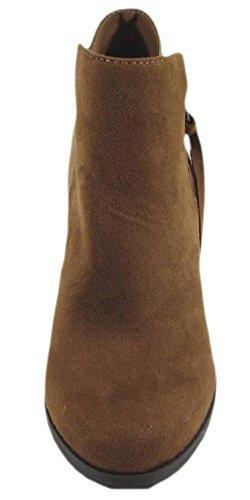 Heel Chunky Women's Soda Cognac Tassel Zip Ages Bootie wIA4qX1