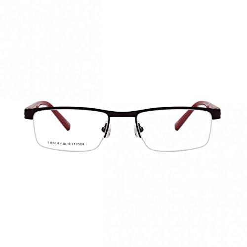 d27380e679 Tommy Hilfiger Rectangle Gun Metal Supra Eye Frame for Men (TH345GR51