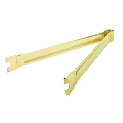 Tono eDealMax Oro de acero inoxidable 2-Garra de estaño soldadura en horno clip de la abrazadera - - Amazon.com