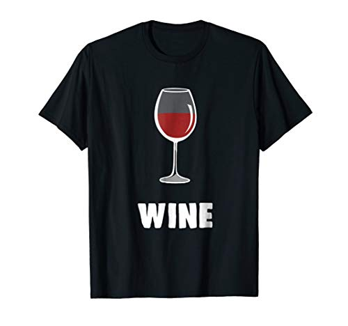 Couple Matching Halloween Costumes Wine T-Shirt -