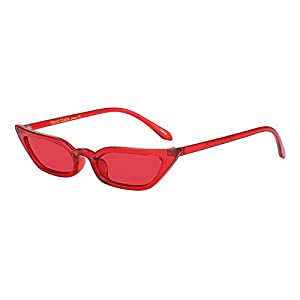 WOWSUN Vintage Sex Cat Eye Sunglasses Candy Color Clout Goggles for Women