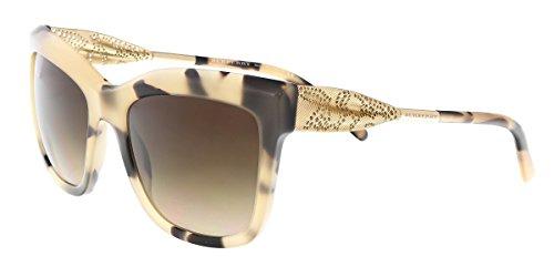 Burberry BE4207 350113 Light Tortoise Print BE4207 Cats Eyes Sunglasses Lens - Burberry Shipping