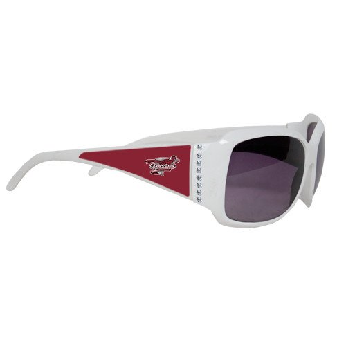 Ramapo Ladies White Rhinestone Sunglasses 'Official Logo' by CollegeFanGear