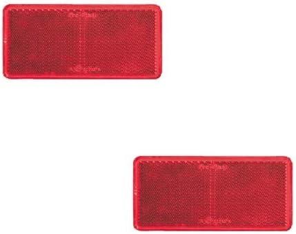 4er Set Reflektoren Rückstrahler Katzenauge rot oder weiß selbstklebend # 10294