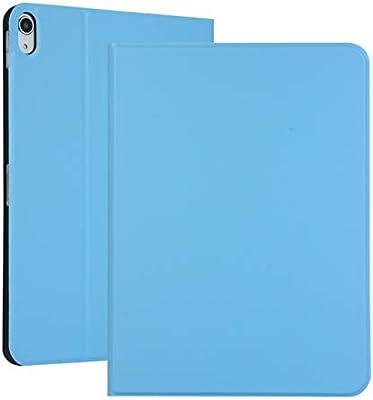 MINGFENG for Abra la Funda de Cuero elástica de Color sólido para iPad Pro de 11 Pulgadas con Soporte con función de Reposo, Estuche Inferior Suave de TPU (Color : Light Blue):