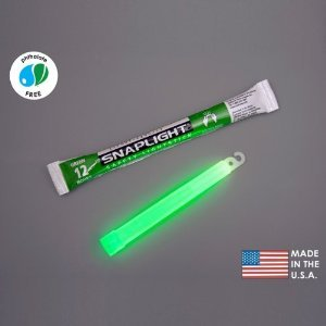 Pack of 10 SnapLight Industrial Grade Chemical Light Sticks, Green, 12 Hour for Emergency Earthquake Disaster Kit