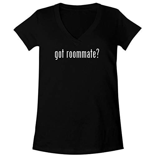 Roommates Pitcher - got Roommate? - A Soft & Comfortable Women's V-Neck T-Shirt, Black, Medium