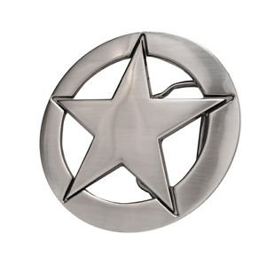 Brushed Metal Deputy Ranger Star Badge Belt Buckle