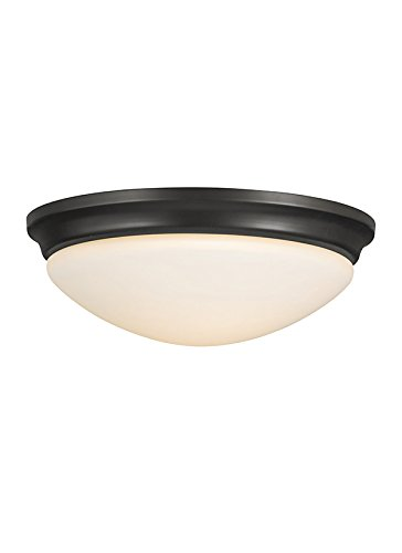 Murray Feiss FM272ORB Barrington 2 Light Indoor Flush Mount, Oil Rubbed (14' Transitional Flush Mount)