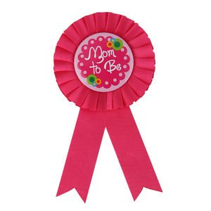 e65fc502e Buy Hot Pink Mom to Be ROSETTE Pin Badge New Mother Party Accessory ...