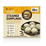Bibigo Steamed Dumplings Chicken and Vegetable, 6 Ounce (Pack of 09)