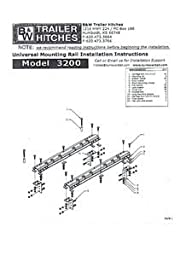 B&W Trailer Hitches RVR3202 Custom 5th Wheel Rail Kit with Overload Rear Springs for RAM 2500/3500