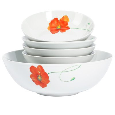 5 piece salad bowl set - 9