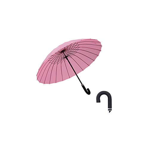 Creative 24 bone Large Curved Handle Umbrella Reinforcement Windproof Water Bloom Flower Umbrella Man Parasol,YELLOW