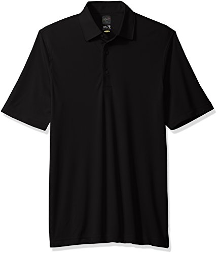 Greg Norman Men's Protek Ml75 Microlux Solid Polo, Black, X-Large from Greg Norman