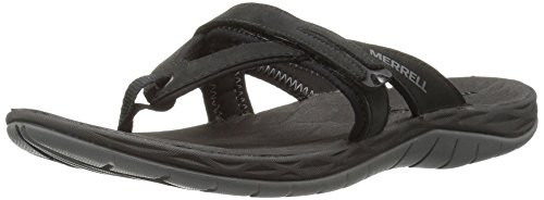Merrell Women's Siren FLIP Q2 Athletic Sandal, Black, 7 M US