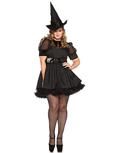 Leg Avenue Women's Plus Size Classic Bewitching Witch Costume, Black, 3X / 4X ()