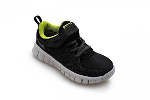 Nike Kid 's-Free Run 2(PSV)-Schwarz Dunkelgrau Anthrazit Fierce grün