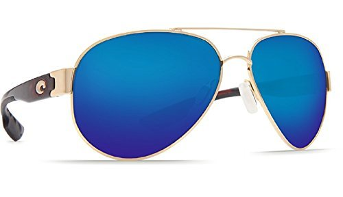 Costa Del Mar South Point 580G Gold/Blue Mirror Polarized Lens 58mm ()