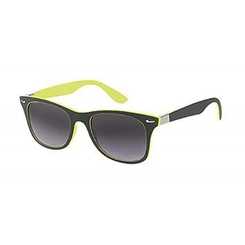 Sonnenbrille Wayfarer Nerd 400 UV schwarz innen bunt Zierscharnier Ziermandel pink E0ZKOiyx