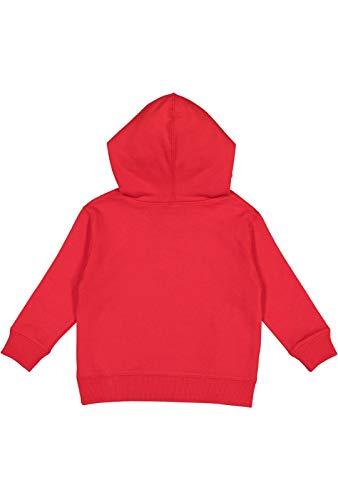 Rabbit Skins Toddler Fleece Long Sleeve Hooded Pullover Sweatshirt with Side Seam Pockets