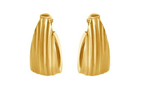 Triangle Fashion Hoop Earrings In 14K Yellow Gold Over Sterling Silver 14k Yellow Gold Triangle Hoop