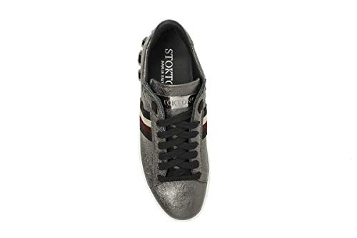 Tennis Donna Scarpe 758 Sportive d Argento Sneakers Casual Da Ginnastica Stokton In Pelle E7qxRE