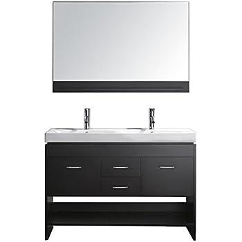 Design Element Citrus Mini Integrated Porcelain DropIn Double - 47 inch bathroom vanity for bathroom decor ideas