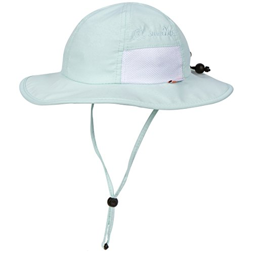 SwimZip Unisex Child Wide Brim Sun Protection Hat UPF 50 Adjustable Mint Green 6-24 Month