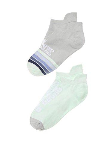 8335b3edd Victoria s Secret Pink Ultimate Ankle Socks No-Show Seafoam Grey Stripe