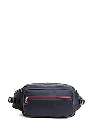 Tommy Hilfiger Men's Urban Crossbody Bag, Tommy Navy/Black, One