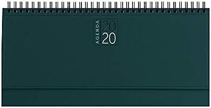 takestop/® Planning da Tavolo Agenda 2019 Verde Scuro SETTIMANALE Spirale DIARIO 30x15 CM DIARIO Blocco Notes Copertina Rigida