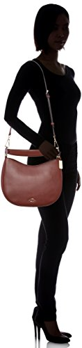 Crossbody burgundy Leather Women's Nomad Coach Li Bag OxtawWFq