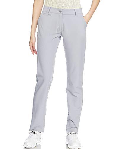 Golf Pants Women Long Stretch Tall Straight Leg Twill Work Chino Ladies Grey