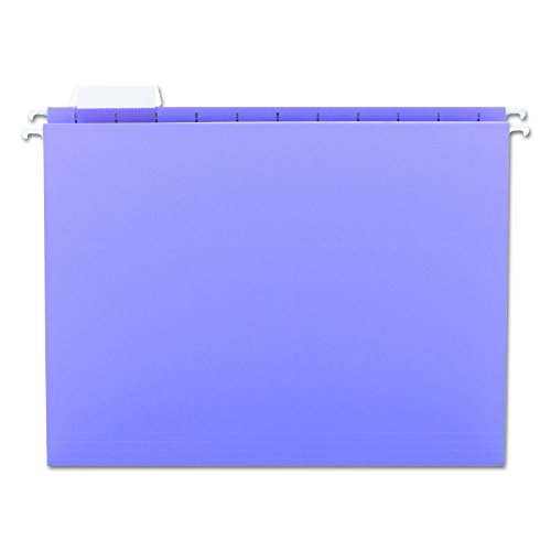 Smead Hanging File Folder with Tab, 1/5-Cut Adjustable Tab, Letter Size, Lavender, 25 per Box (64064)