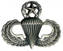 - Army Master Parachutist Badge Oxidized Finish - Regulation