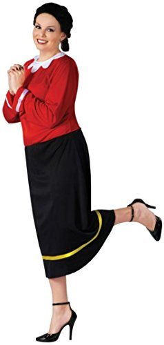Funworld Womens Olive Oyl Popeye Theme Party Fancy Dress Halloween Costume, One Size (Olive Oyl Fancy Dress)