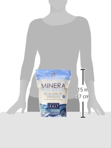 Minera Fine Grain Pure Dead Sea Salt, 10 lb (2 Pack - Each of 5 lb Bag)