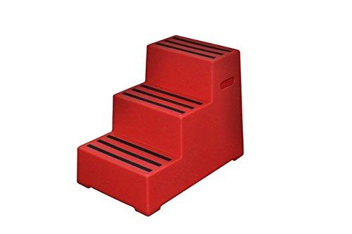 Aufstiegshilfe Exklusiv mit 3 Stufen. Rot