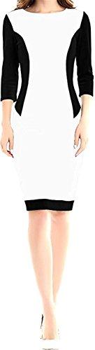 KDHJJOLY Comfortable Women Fashion Slim Fit Party Elegant Bodycon Formal Dress WhiteXX-Large Effective - Reviews Dolly Girl Fashion