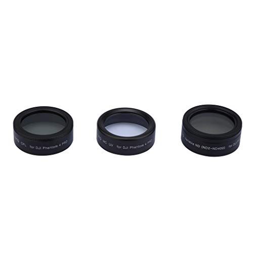 Foncircle UAV Filter Polarizer Gray Adjustable Dimming Lens Set for DJI Phantom 4 Pro/Advance, Includes: MCUV Mirror, Polarizer, Adjustable Dimming Mirror